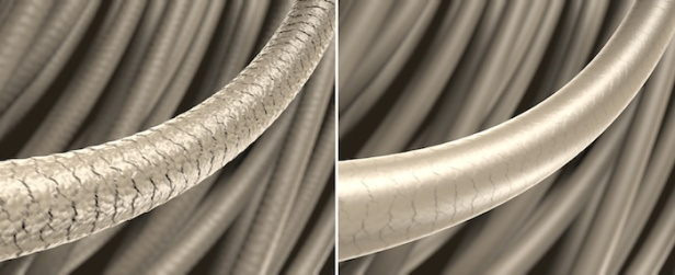 Haar-Struktur - strapaziertes und gesundes Haar: 3D-Illustration